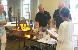 Vendors present sea turtle safe lighting at an educational session. Delray Beach sponsors educational outreach on sustainability topics year-round. (Photo provided)