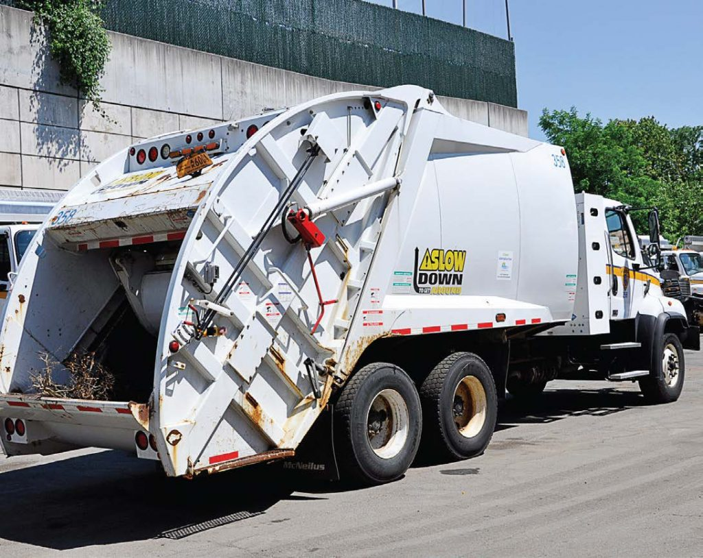 White Plains' current truck fleet consists of compressed natural gas garbage trucks and street sweepers. Approximately 20 percent of the city's fleet — about 65 vehicles —utilizes alternative fuels. (Photo provided by city of White Plains)