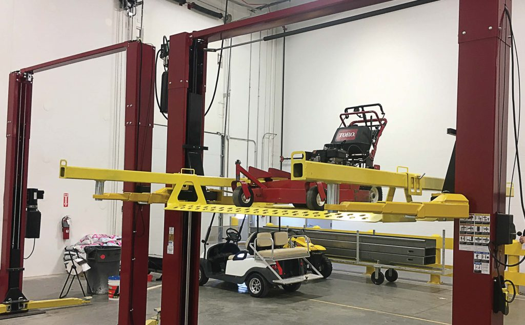 Turf Rail allows parks departments, golf courses, airports and the turf industry as a whole work safely and efficiently on the wide range of equipment that enters their shops daily. (Photo provided)