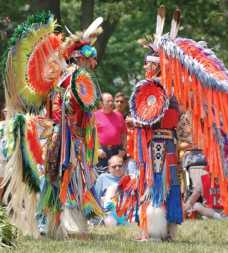 Downtown Chillicothe hosts the annual Feast of the Flowering Moon, a four-day festival featuring American Indian music and dance and a mountain man encampment reenactment. The festival just completed its 34th year. (Photo provided)