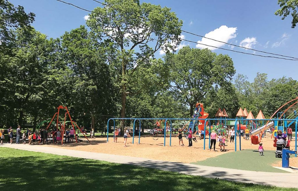 Inclusive playgrounds are being made more and more available in parks, which will bring even more visitors. This one in Kokomo, Ind., allows children and parents to interact with people from all walks of life. (Photo provided)
