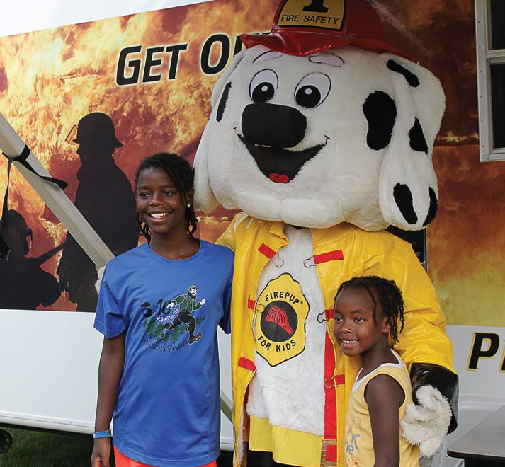 Sparky the Fire Dog made an appearance to teach children about fire prevention. (Photo provided)