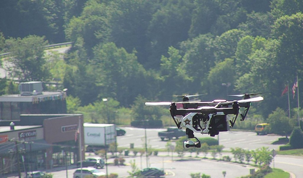 Drones are able to travel over all types of terrain and provide vantage points that wouldn't be available normally. (Photo provided)