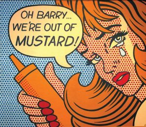 A character in a vintage comic strip makes a desperate plea for more of the condiment Barry Levenson started collecting in 1986. (Photo provided)