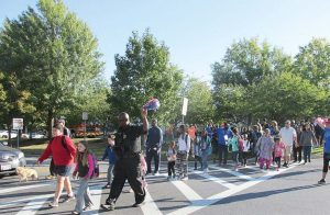 Montgomery County, Md., Police Department interacts with the community as part of Walk to School Day. (Photo provided)