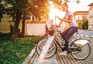 An effective chain of communication can inform your community about different services, such as a new bike-sharing opportunity, and how they function. (Shutterstock.com)