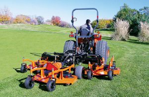 Procurement professionals can save time by using cooperative purchasing, particularly when it comes to grounds maintenance. Land Pride off ers contracts with many cooperative buy groups, including NJPA and BuyBoard. (Photo provided)