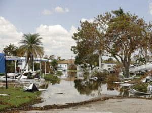 In the aftermath of Hurricane Irma, wastewater workers in Naples, Fla., retrieved as much of the sewage spills as they could with septic trucks and then disinfected affected areas with lime or bleach. (Shutterstock.com)