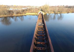 Ogdensburg, N.Y., received $1.6 million in order to convert an old trestle bridge and tie it into the existing trail. (Photo provided)