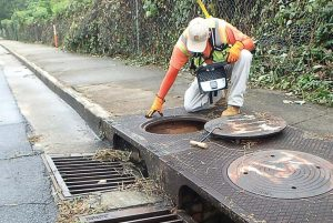 A worker inspects a manhole. Knowing more about the assets within their current wastewater system can allow cities to provide a high level of service, safety and protection for their communities. (Photo provided)
