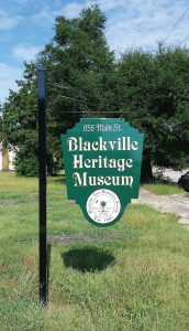 The Blackville Heritage Museum, founded by the Blackville Area Historical Society, contains exhibits and archives of local interest, including high school yearbooks, Indian artifacts, old farm implements and a video of God's Acre Healing Springs. (Photo provided)