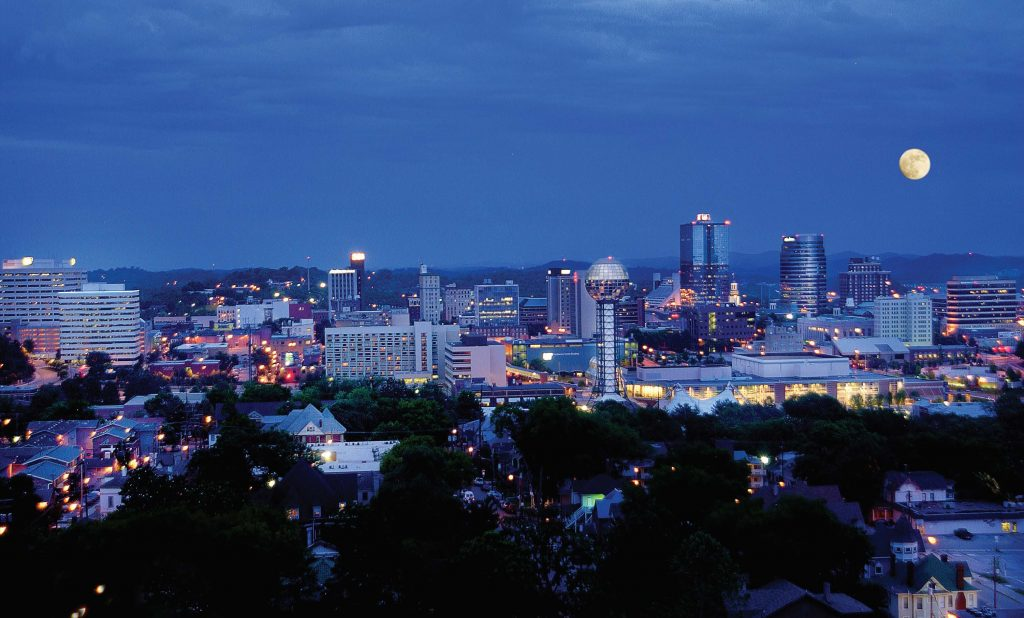 A night view of the city of Knoxville. Knoxville tries to closely follow the standards recommended by the International Dark-Sky Association. (Photo provided)