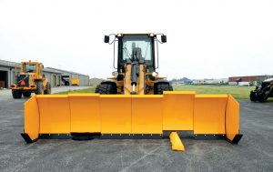 """Independently moving moldboards """"trip"""" over obstacles up to 9 inches in height and move below grade as well the same amount to contour to uneven surfaces."""