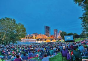 The Movies in the Park program is run by the Downtown Grand Rapids Development Authority. It takes place at Ah-Nab-Awen Park on the Grand River in Grand Rapids, Mich. (Photo provided)