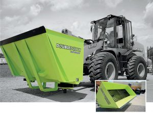 The DoubleDown Salt Bucket™'s unique technology off ers several advantages over conventional equipment, including independent augur controls, adjustable spinner controls and ejection points low enough to salt with precision under parked cars.