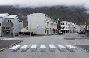 Ísafj örður, Iceland, decided to get creative when it came to catching the attention of drivers with its new 3-D pedestrian crosswalk. (Shutterstock.com)