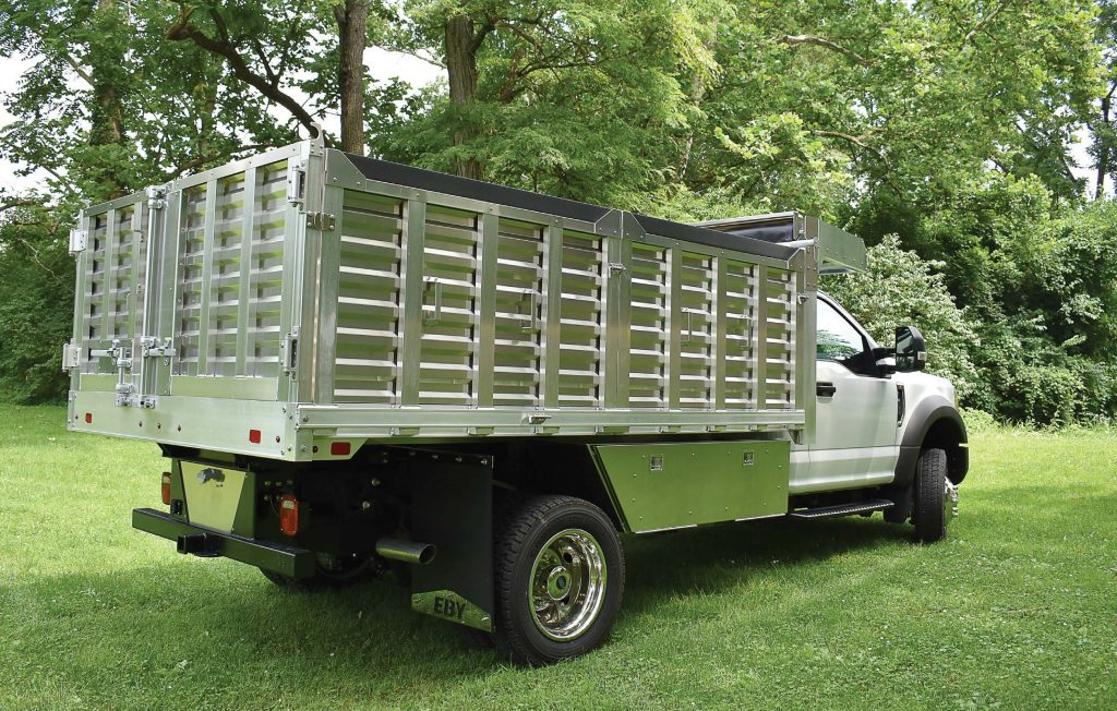 This all-aluminum landscape body is built with removable sides, making workers' jobs easier. (Photo provided)
