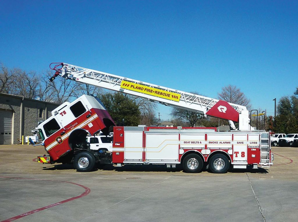Emergency vehicles, like this Plano, Texas, fire rescue truck, were put in a bind when widespread panic about fuel shortages created a fuel shortage in Plano, Texas, resulting in fire personnel traveling to a neighboring community for fuel. (Photo provided)