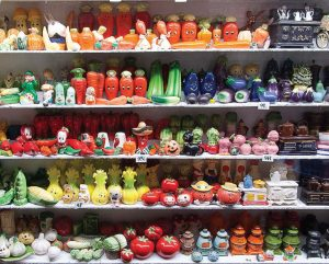 Replicas of foodstuff from around the globe are a staple of the displays at the Salt and Pepper Shaker Museum in Gatlinburg, Tenn. (Photo provided)