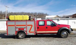 This 2005 F-550 — sold for Smithton Volunteer Fire Department of Pennsylvania — now serves with Patoka Township Fire Department, located in Indiana. (Photo provided by Fire Tec)
