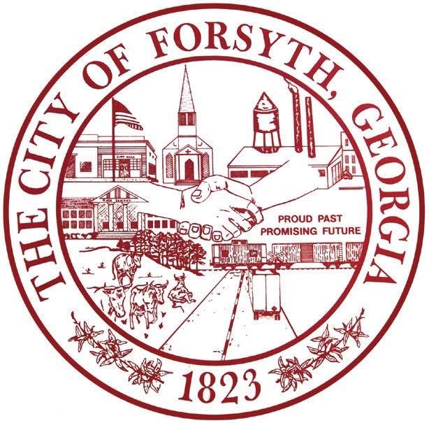 The city of Forsyth GA 1823