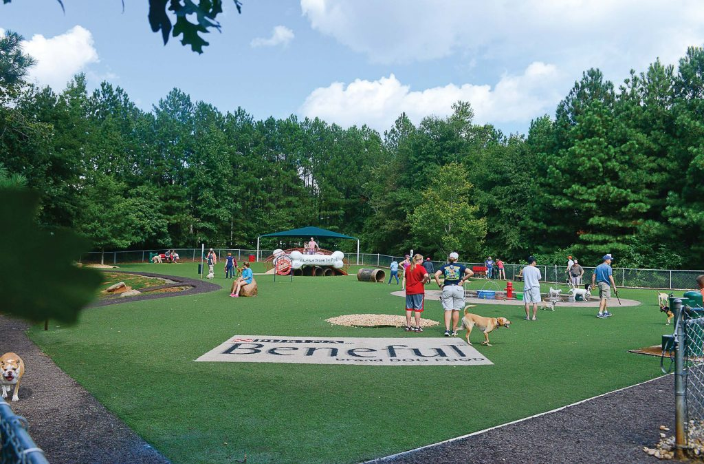 Newtown Dream Dog Park in Johns Creek, Ga., was selected by Purina Beneful as the winner of its nationwide Dream Dog Park competition, resulting in it being revitalized. (Photo provided)