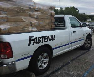 Fastenal's Atlanta distribution center was put on notice to arrange logistics for shipping supplies to shelters across Florida in response to Hurricane Irma. Due to its wide breadth of suppliers, Fastenal was able to distribute necessary items such as batteries, cots, hand sanitizers, boots, bleach, hygiene kits and more. (Photo provided)
