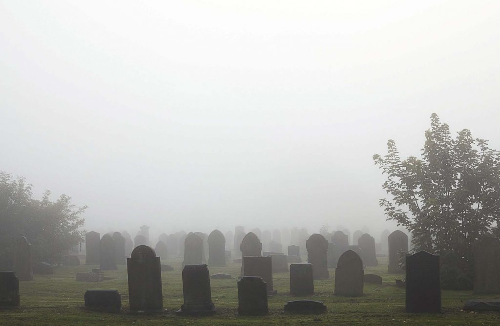 "Most paranormal encounters appear to happen in old buildings, homes and locations like cemeteries. Of course, sometimes people are also ""haunted."" Thankfully, access to holy water has become easier with online shopping. (Shutterstock.com)"