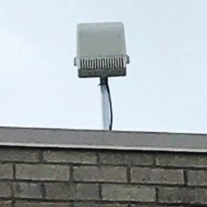 Pictured is one of Goldsboro's ShotSpotter sensors. The sensors provide instantaneous feedback when a gunshot goes off so police departments are aware of such instances even if they aren't reported by the public. (Photo provided)