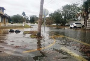 "A ""sunny day flood"" in October 2017 filled some St. Augustine streets with water. The ""Community Resiliency: Planning for Sea Rise"" project seeks to mitigate such flooding. (Photo provided)"