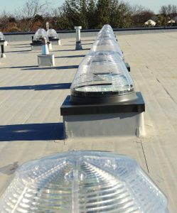 Sun tunnels are long and can bend around objects that would otherwise interfere with — or totally prohibit — the installation of traditional skylights. (Photo provided)