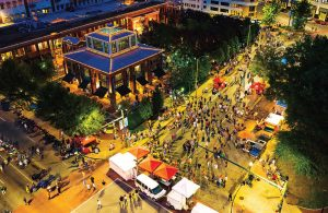People visit Chattanooga, Tenn.'s, downtown for the Nightfall Music Series. (Photo provided)