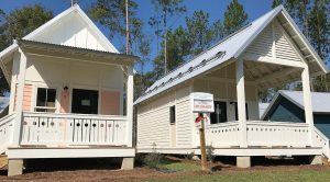 Tiny home communities seem to be more popular outside of city limits, such as The Dwellings in Tallahasse, Fla. However, the city's building code requirements would be the same as anyone pursuing building a single-family home subdivision. (Photo provided)
