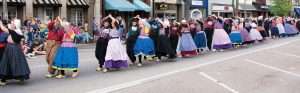 Dutch dancers clog down East Eighth Street in Holland, Mich., during the Tulip Time Festival. This year's festival occurred May 5-13. (Photo provided)