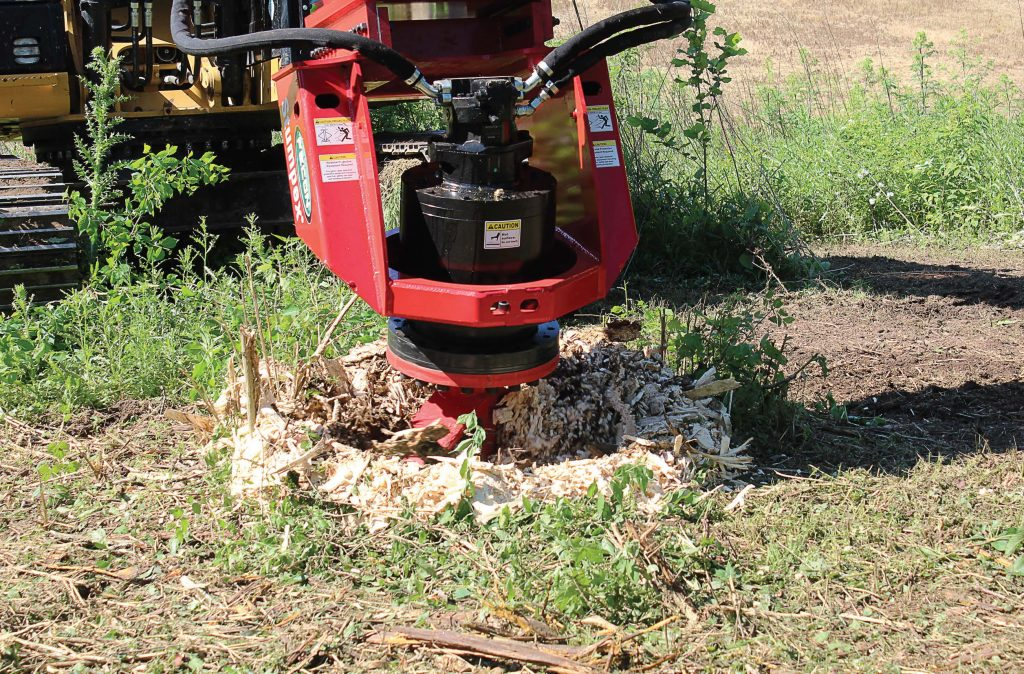 The Stumpex can cut from 8 inches above ground to 8 inches below ground in less than four minutes. (Photo provided)