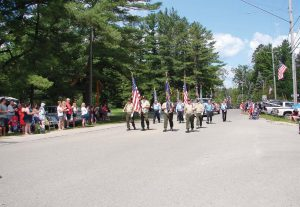 "A veterans group marches in Barton City, Mich.'s, Fourth of July parade. The city is known as having ""The Biggest 4th in the North."" (Photo provided)"