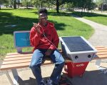 The Shaker Heights' Soofa smart benches have sparked revitalization in not just Hildana Park, but also the surrounding neighborhood of Moreland. (Photo provided)