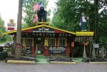 The entrance to The Mystery Hole still sports the kitschy design and trappings popular with the roadside attractions of yesteryear. (Photo provided)