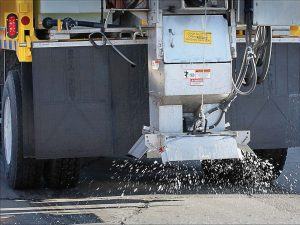 Polk County Highway Department uses between 20,000-35,000 gallons of brine per winter season. It has found a ratio of cheese brine to rock salt that prevents it from clogging up the machines. (Photo provided)