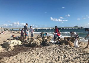 Throughout the year, Deerfield Beach hosts several cleanup events, including the International Coastal Cleanup. (Photo provided)