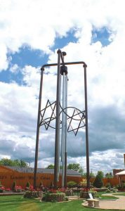 "The wind chime was the first of the ""big things"" to be constructed in Casey, Ill. Jim Bolin crafted the record-breaking item to draw tourists from nearby Interstate 70. (Photo provided)"