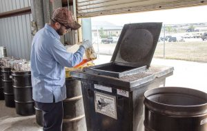 Pictured is an inside look at the household hazardous waste process in Denton. (Photo provided)