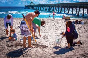 To maintain clean beaches, Deerfield Beach, Fla., encouraged citizen action through its Litter-Free Deerfield Beach program and Beach Sweep Volunteering. (Photo provided)