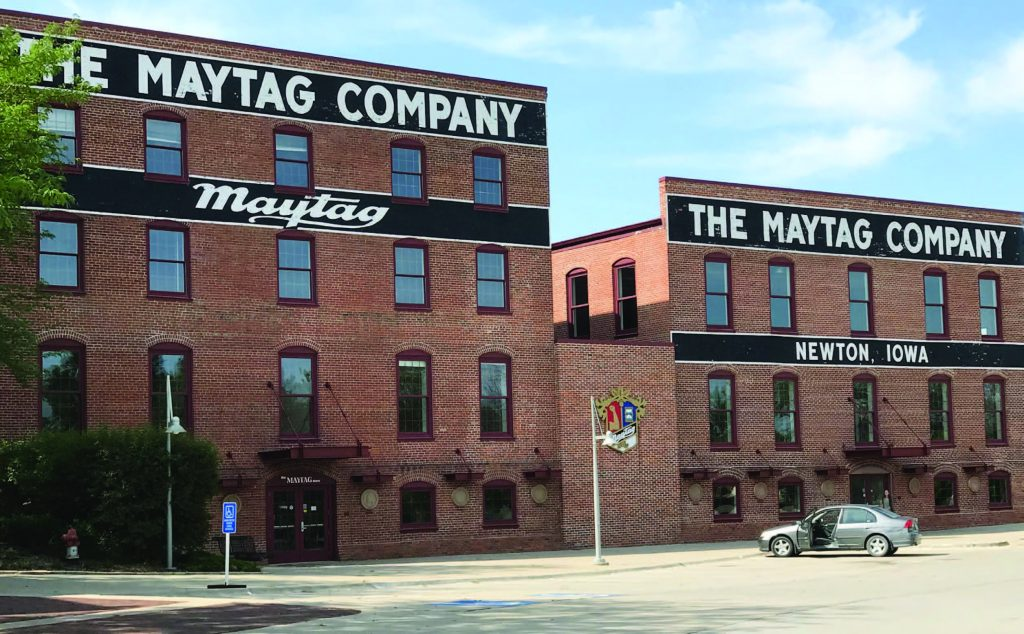 Maytag had been a major employer in Newton, Iowa, for decades, oft en employing generations of family members. When it left , Newton sought out other companies to fill its void. (Photo provided)