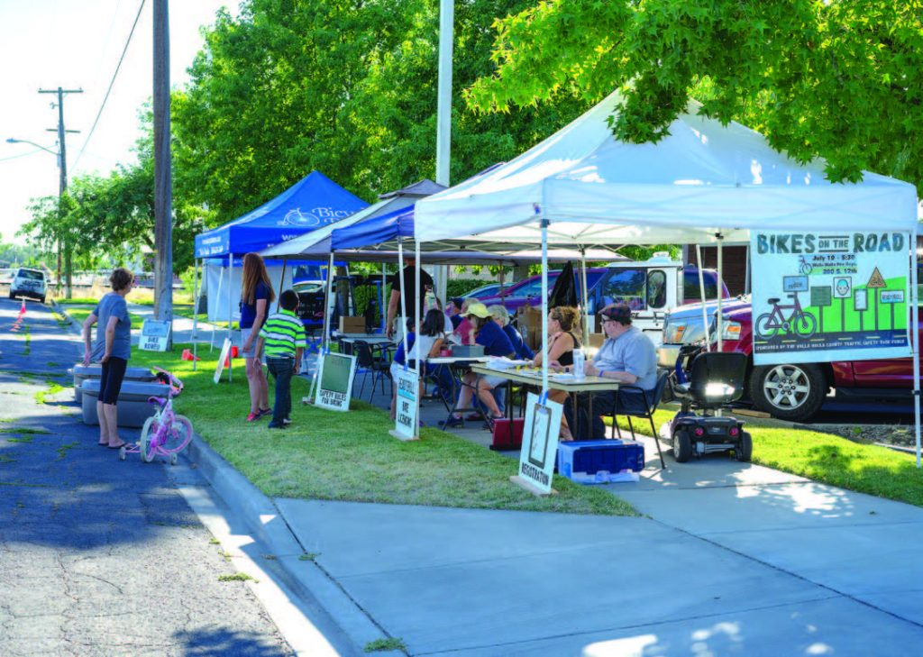 During the summer, the city of Walla Walla, Wash., and its surrounding county host block parties to get relevant public safety information out to the public. These parties take place in local parks, schools or on the street. (Photo provided)