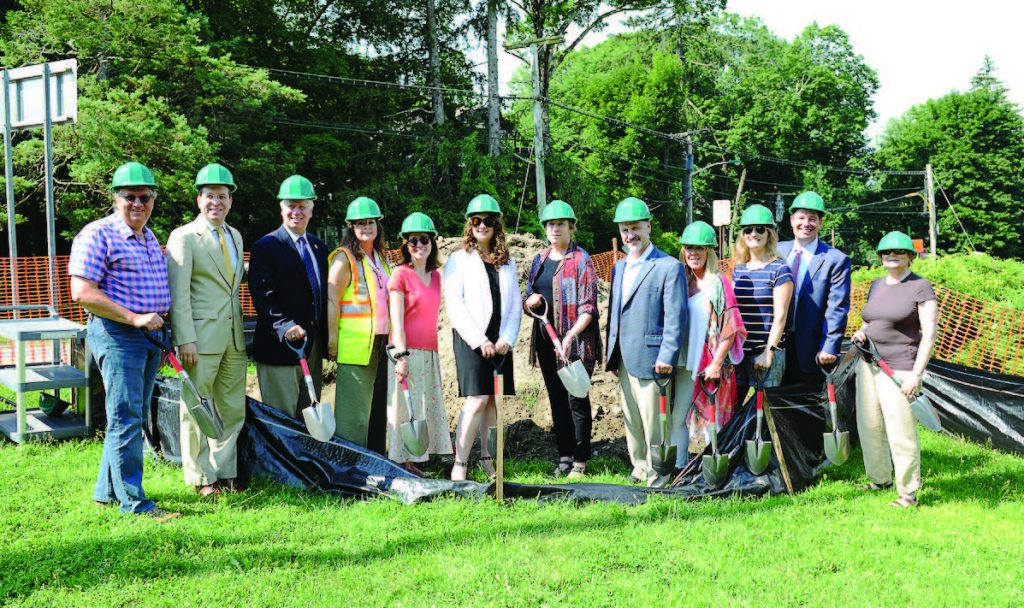 In the spring of 2017, New Castle and its hamlet of Chappaqua hosted a groundbreaking for the hamlet's intensive infrastructure and streetscape project. (Photo provided)