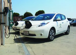 Driver training has been a key to success for Oakland's EV program. As part of it, drivers have been trained to plug in their EVs after use. (Photo provided)
