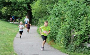 Young residents participate in Bloomington's Kids Triathlon at Bryan Park. (Photo provided)