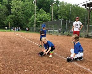 In the summer, young sluggers get to participate in T-Birds Tee Ball at Cascades Park in Bloomington. (Photo provided)