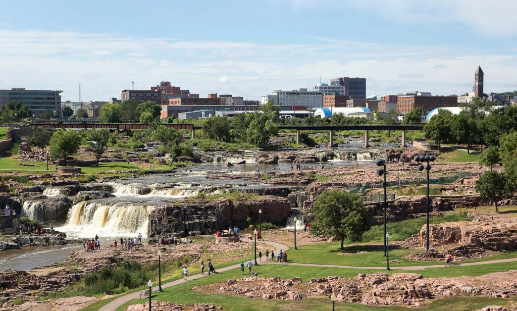 The most populous city in the state of South Dakota, Sioux Falls guides smaller cities in many ways. It is also developing a diverse tech base. (Shutterstock.com)